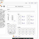 Web based media player wireframe