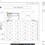 Sort feature of a media player wireframe